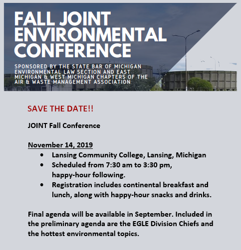 Fall Conference - hold the date